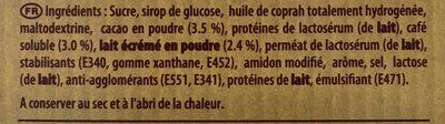 Cappuccino Carambar - Ingrediënten