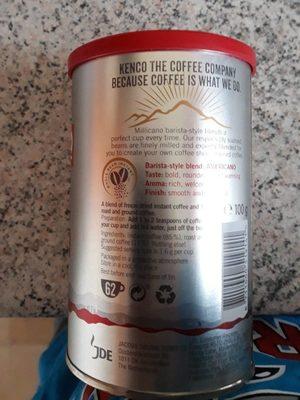 Kenco Millicano Americano Instant Coffee - Ingrédients