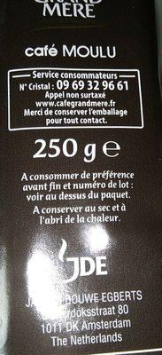 Cafe - Ingrédients - fr