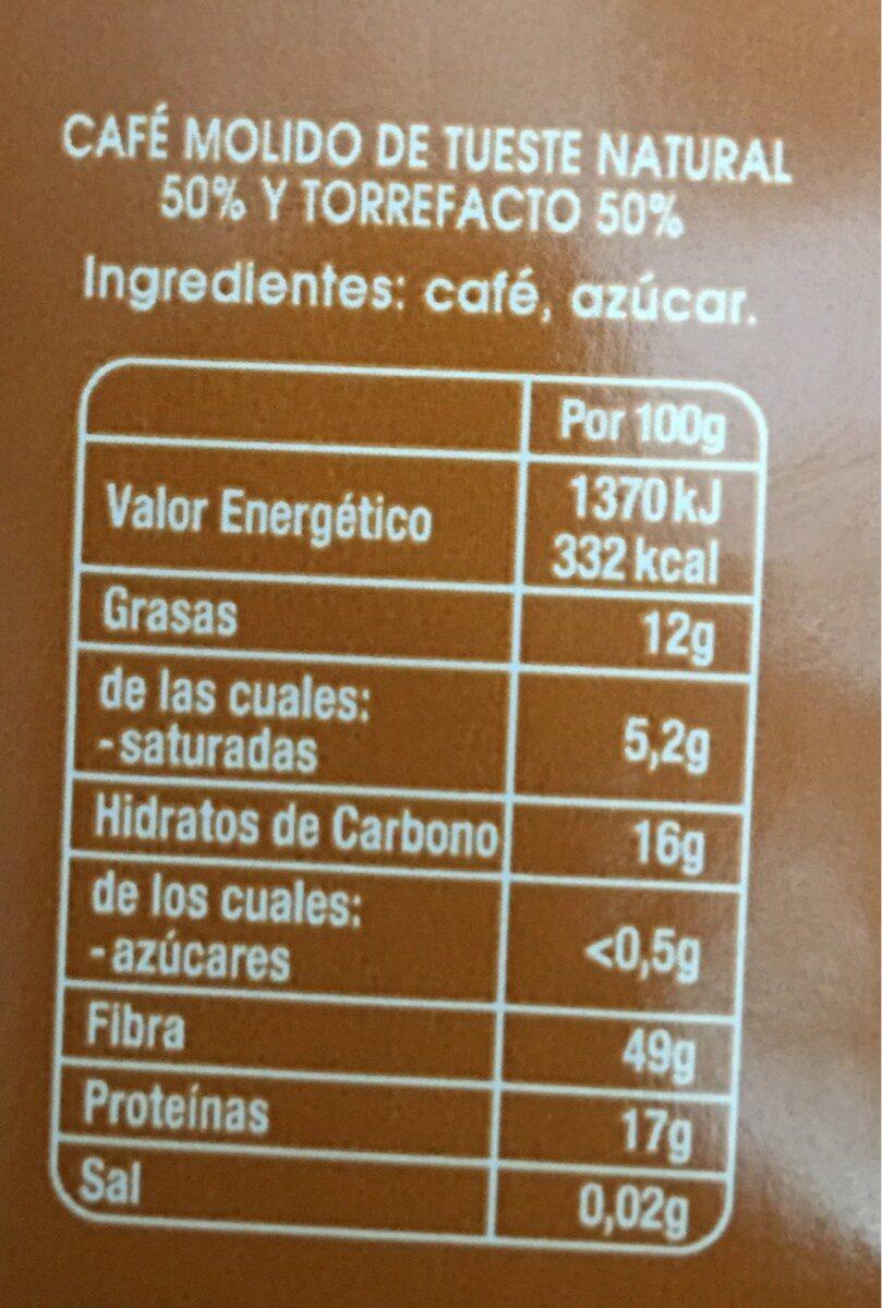 Café molido mezcla superior - Voedingswaarden - fr