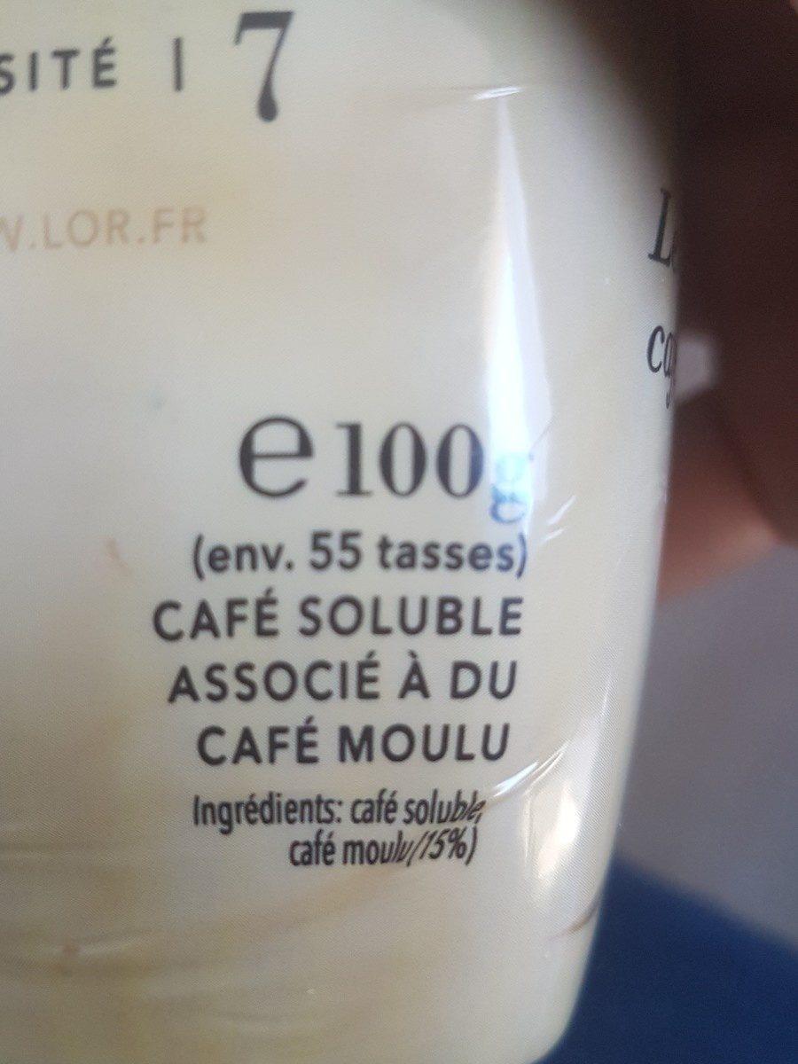 L'OR Absolu Café Soluble Bocal 100g - Ingredienti - fr