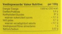 Maizena - Informação nutricional - fr