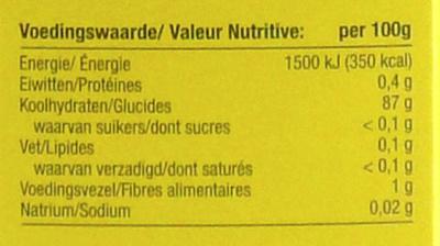 Maizena - Informations nutritionnelles - fr