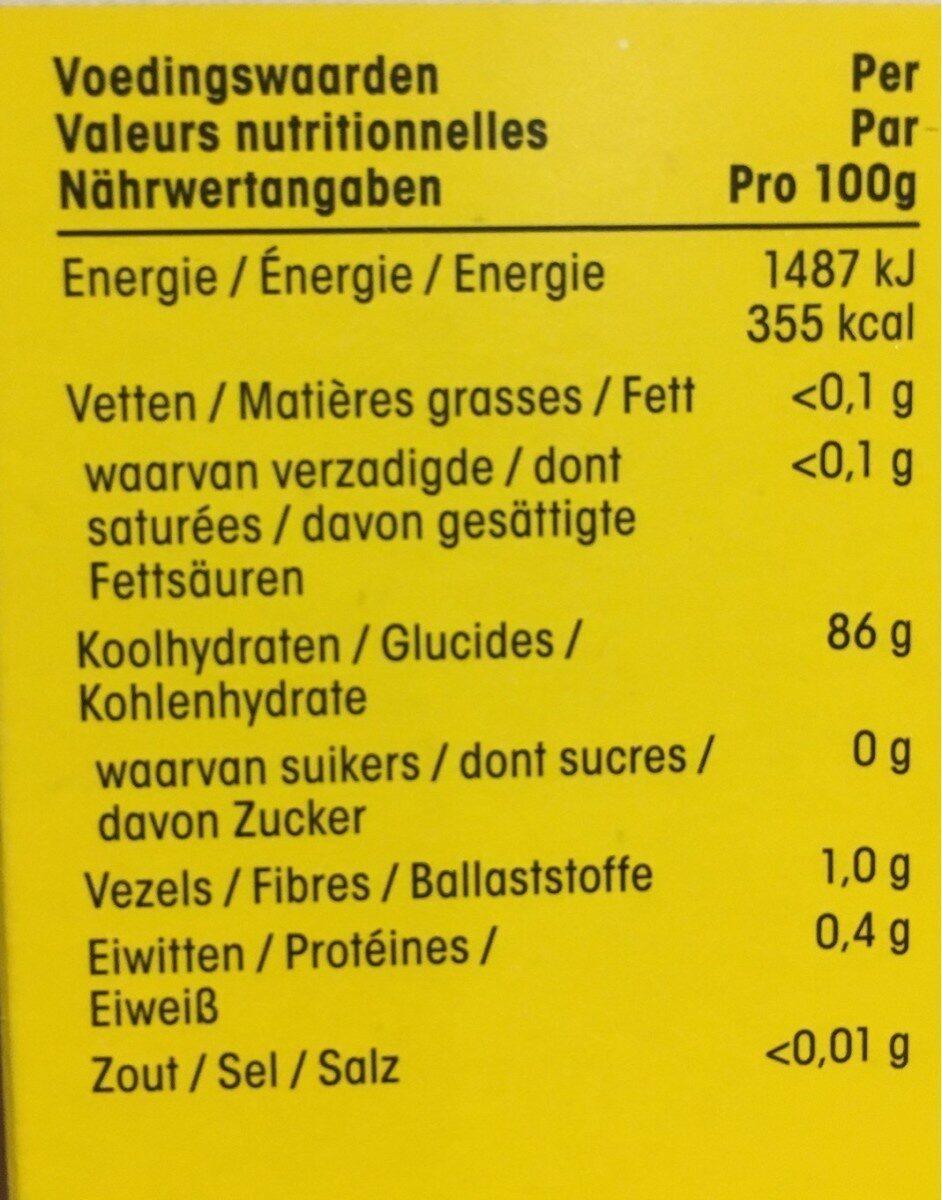 Corn Flour - Voedingswaarden - nl