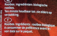 Rooibos - biologique - Ingredientes
