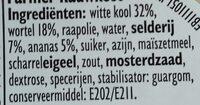 Farmer Rauwkost - Ingrediënten - nl