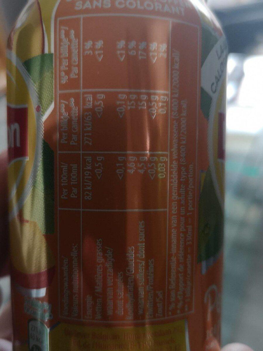 Lipton Ice Tea -peach - No Bubbles - Nutrition facts - fr
