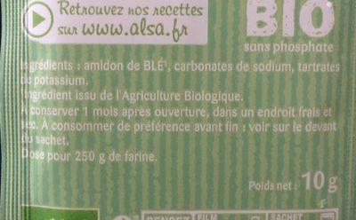 Poudre à lever - Ingrediënten - fr