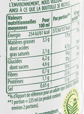 Knorr Comme à La Maison Soupe Liquide Tomates Pointe de Basilic Bouteille 45cl - Información nutricional - fr