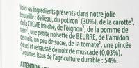 Knorr Comme à la Maison Soupe Liquide Potiron Pointe de Muscade Bouteille 45cl - Ingredientes - fr