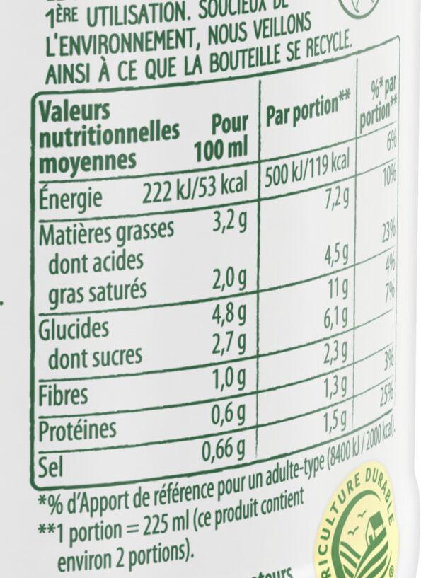 Knorr Comme à la Maison Soupe Liquide Potiron Pointe de Muscade Bouteille 45cl - Información nutricional - fr
