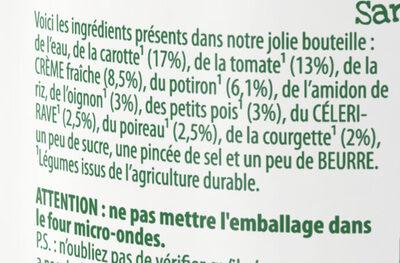 Knorr Comme à La Maison Soupe Liquide Légumes du Potager 45cl - Ingredients - fr