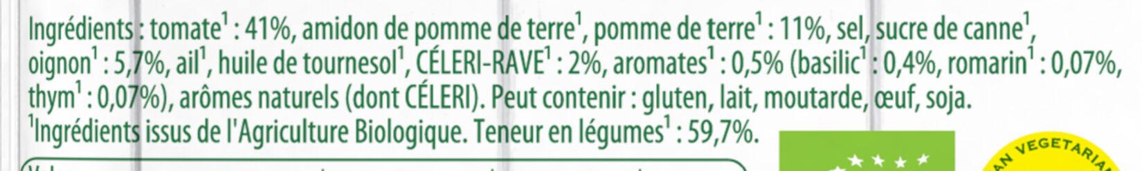 Knorr Soupe Liquide Bio Tomates et Pointe d'Herbes Sachet 45g 2 Portions - Ingredientes - fr