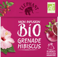 Elephant Bio Tisane Grenade Hibiscus 20 Sachets - Produit - fr