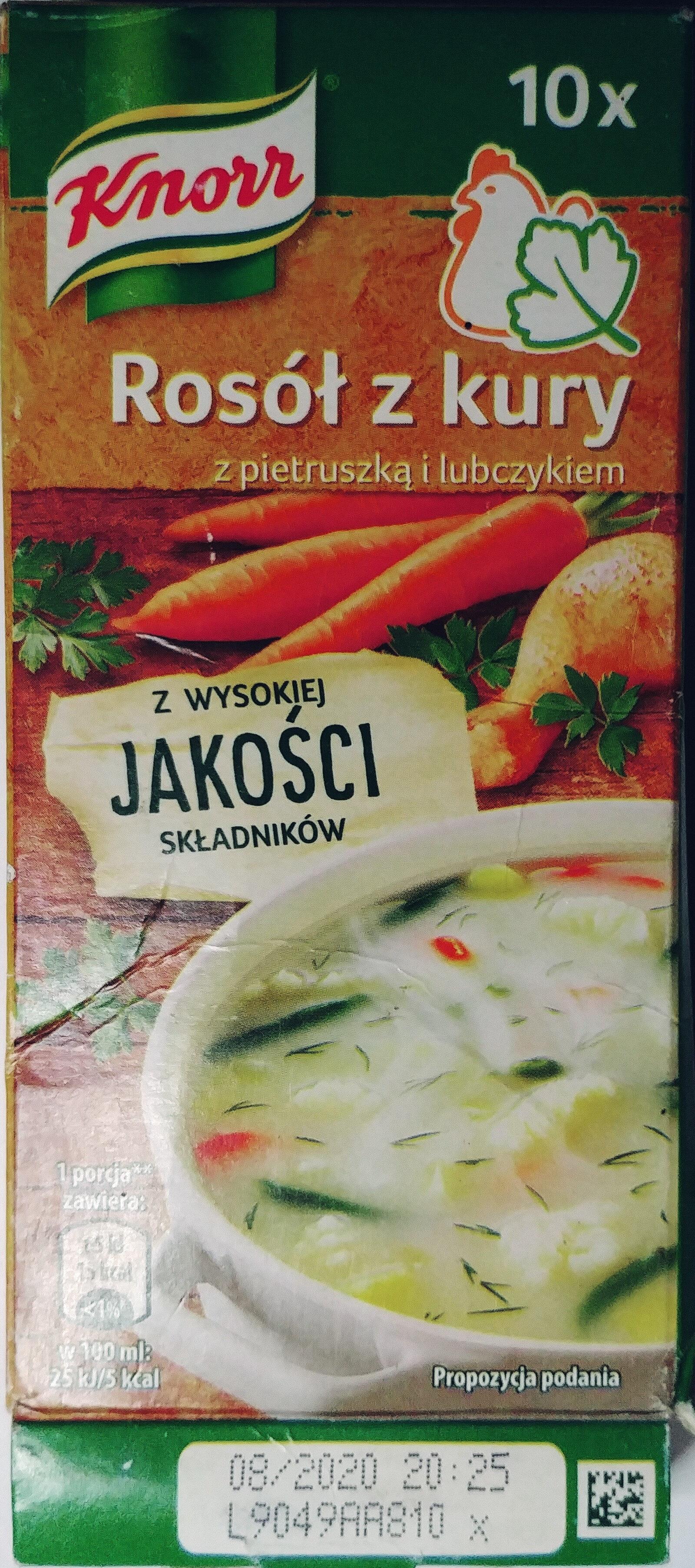 Rosół z kury z pietruszką i lubczykiem - Produkt