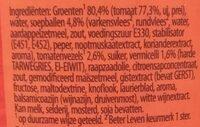Stevige Tomaten Soep - Ingredients - nl