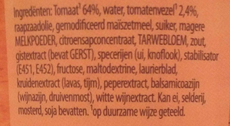 Unox soep - Ingredients - nl