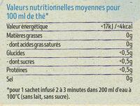 Lipton Thé Noir Bio Russian Earl Grey 20 Sachets - Nutrition facts - fr