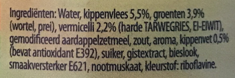 Soep - Ingrediënten - nl
