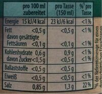 Gemüse Bouillon - Nutrition facts - de