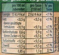 Gemüse Bouillon - Nährwertangaben - de