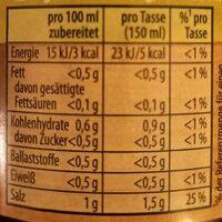 Delikatess Brühe - Nutrition facts - de