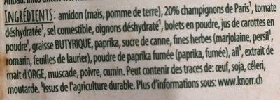 Sauce chasseur - Ingredients