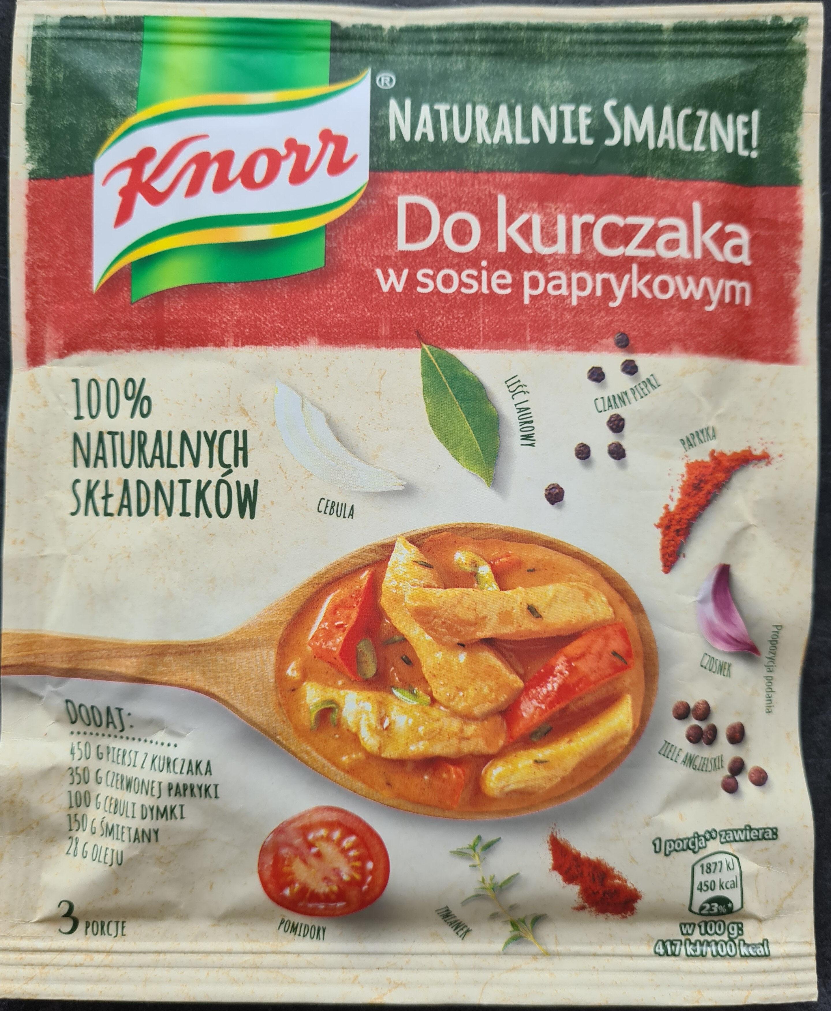 Knor Naturalnie Smaczne! Do kurczaka w sosie paprykowym - Produkt - pl