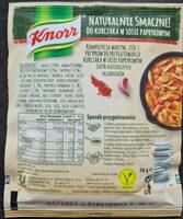 Knor Naturalnie Smaczne! Do kurczaka w sosie paprykowym - Składniki - pl