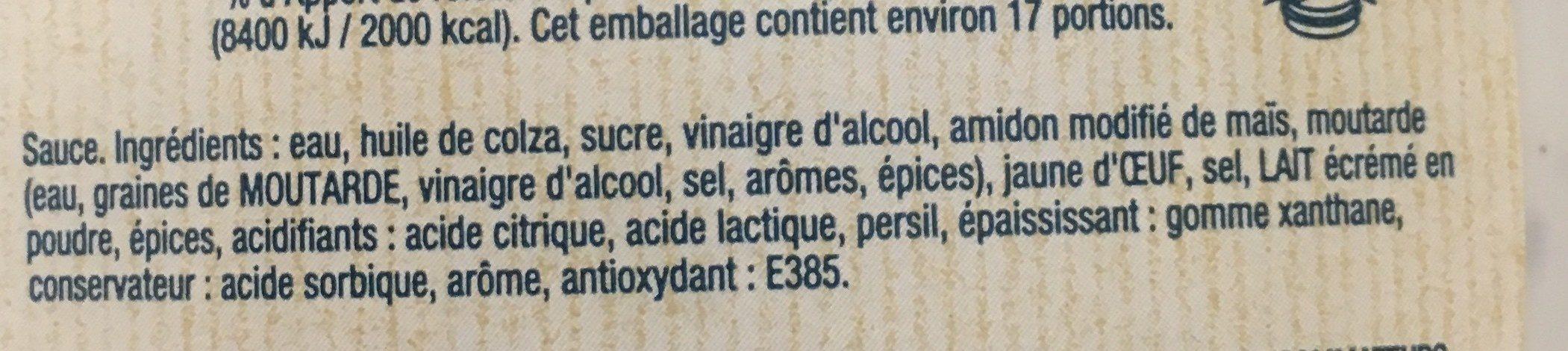 Deluxe Sauce - Ingrédients