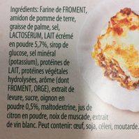Sauce blanche - Ingrediënten - fr