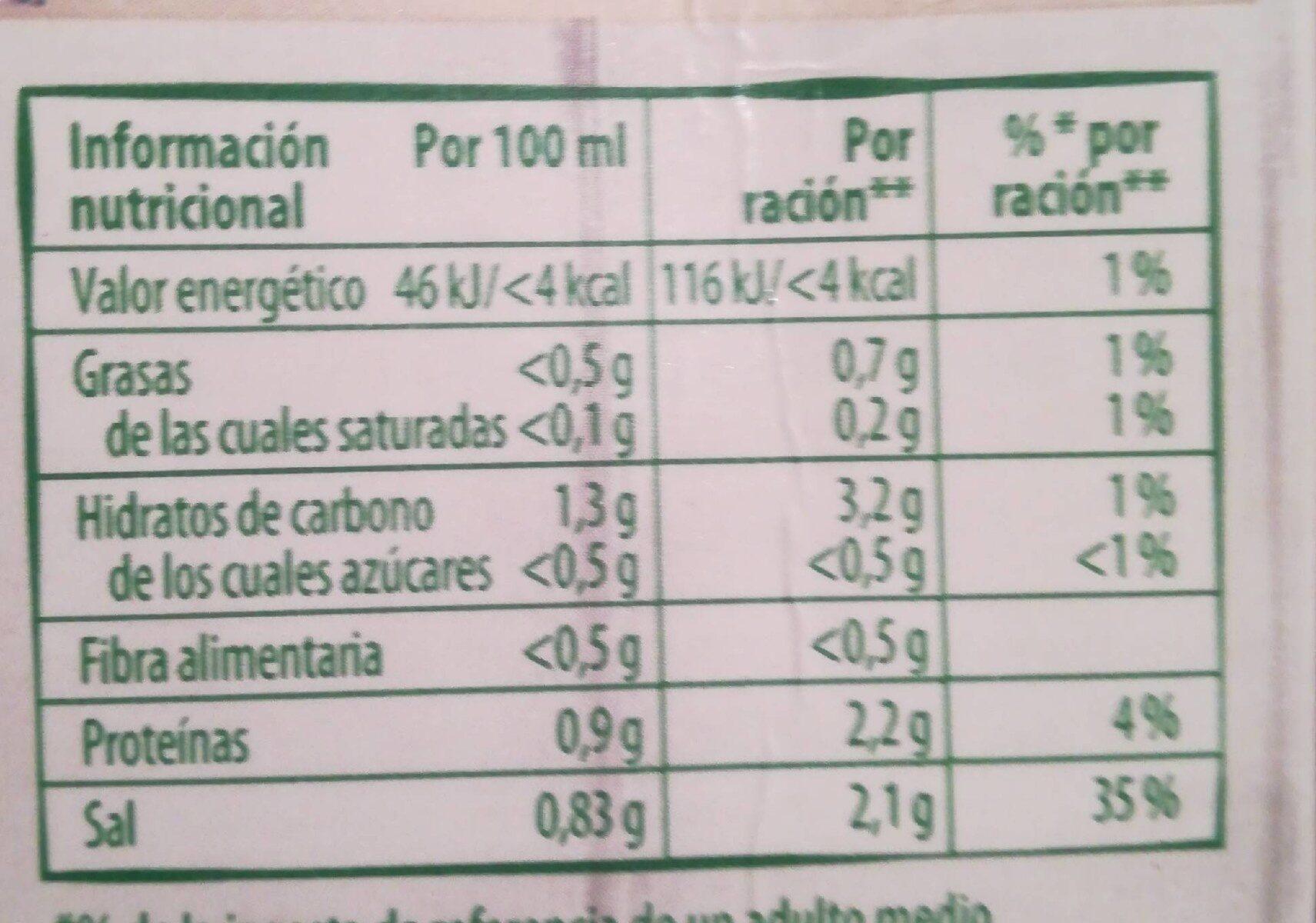 Eco caldo de pollo ecológico, sin gluten y sin lactosa envase 1 l - Nutrition facts - en