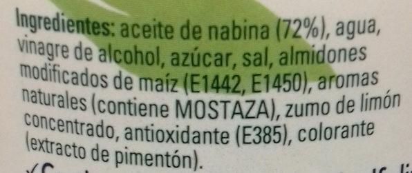 Vegana frasco 578 g - Ingredientes - es