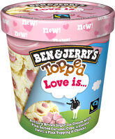 Ben & Jerry's Glace Pot Topped Love is 500ml - Product - fr