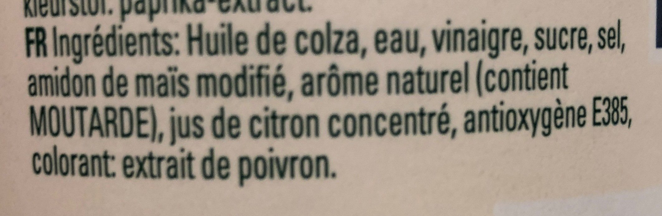 Mayonnaise Hellmann's - Ingredients - fr