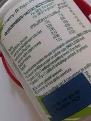 Mayonnaise Hellmann's - Nutrition facts - fr