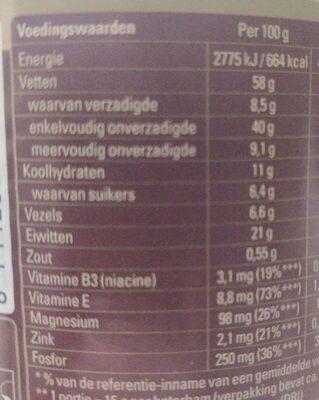 Pindakaas - Informations nutritionnelles - en