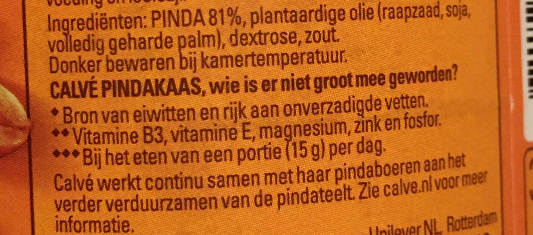 Pindakaas - Ingrediënten - nl