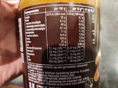 Pindakaas - Valori nutrizionali - nl