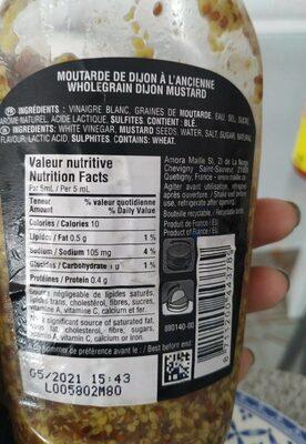 Moutarde à l'ancienne - Valori nutrizionali - fr
