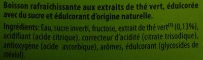 Green ice tea - Inhaltsstoffe - fr
