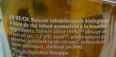 Thé infusé glacé bio saveur menthe du Maroc - Ingredients - fr