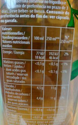 Thé infusé glacé bio saveur menthe du Maroc - Nutrition facts - fr