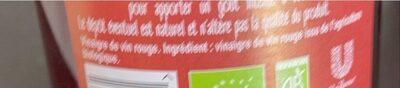 Amora Vinaigre Français de Vin Rouge - Nutrition facts