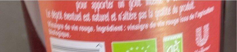 Amora Vinaigre Français de Vin Rouge - Nutrition facts - fr
