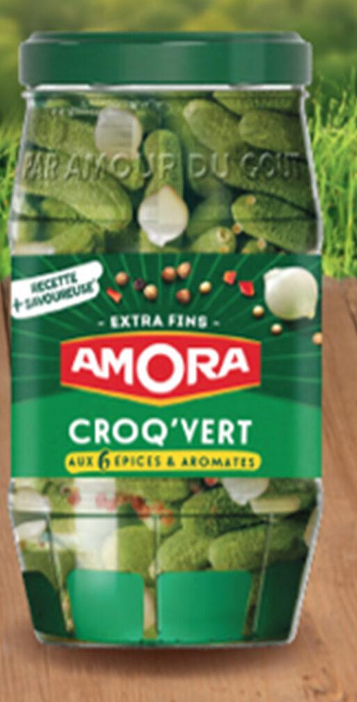 AMORA Croq'Vert Cornichons Extra-Fins Bocal - Produit - fr