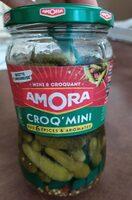 Amora Croq'Mini Cornichons Aux 6 Epices & Aromates Bocal 205g - Produit - fr