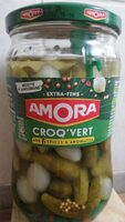 AMORA Croq'Vert Cornichons Extra-Fins Bocal - Product - fr