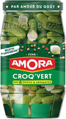 Amora Croq'Vert Cornichons Fins Bocal - Produit - fr