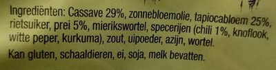 Jakarta vegetarische kroepoek - Ingrediënten - nl